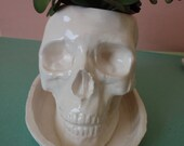 Bonehead large skull planter