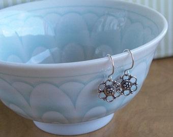 Bali Sterling Silver Floral Earrings