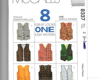 McCall's Boys' and Girls' Lined Vest Pattern 8337