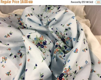 40% OFF- Floral Polyester Fabric-Silky-Dress Fabric