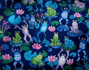 Frogs In The Marshes Cotton Fabric