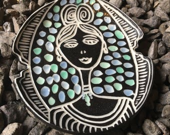 Modern Porcelain Posh Lady trinket ring dish tea tray