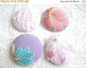 CLEARANCE - Pink buttons buttons, fabric buttons, covered buttons, textured buttons, 1 7/8 inches, size 75 buttons