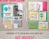 NEW!! Stampin' Up! Hooray It's Your Day Simply Created Kit Bundle with stamp set