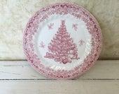 10 Inch Queens Myott Factory Seasons Greetings Plate