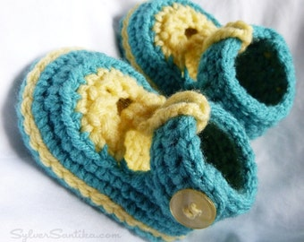 Crochet Baby Sandal Booties, soft sole shoes, size 0 Newborn
