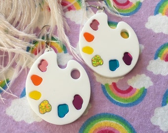 Artist Paint Palette Laser Cut Acrylic Earrings