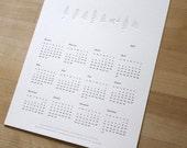 Letterpress Fern Calendar