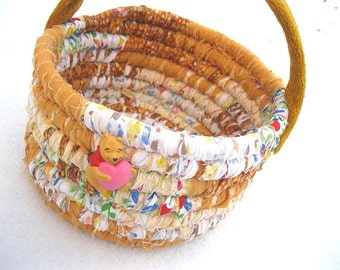 THE BEAR COLLECTION #2  Textile art Basket   Bucket Pooh