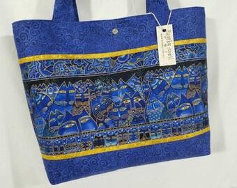 Laurel Burch Fabric Fantastic Fabulous Felines Cat purse tote bag