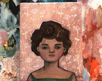 Oil painting portrait - Elena - Original art