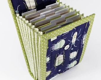Circular Needle Case - Bugs - Needle Holder Needle Wallet Circular Needle Organizer Navy Blue