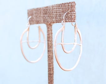 ABACUS COLLECTION, sterling silver or 14kt gold vermeil.  Ear Shield Modern Shape Handcrafted by Chocolate and Steel
