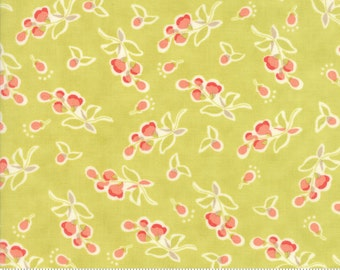Coney Island - Posies in Limesicle Green: sku 20282-17 cotton quilting fabric by Fig Tree and Co. for Moda Fabrics - 1 yard