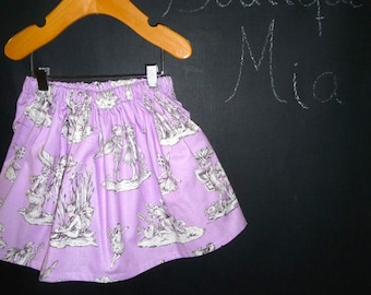 Sample SALE - Will fit Size 6-12 month to 2T - Ready to MAIL - SKIRT - Lilac Toile - by Boutique Mia