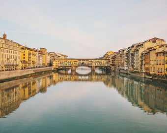 "Florence Italy Print, Ponte Vecchio, Italian Picture, Italy Photography, Florence Art Print, Large Wall Art ""Old Bridge"""