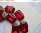"SALE red statement necklace, Anna Wintour necklace, chunky red necklace. ""Candied Apples"""