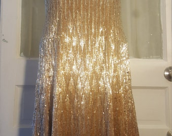 Vintage Eric Winterling Ms Ohara glass beaded dress by IM.BUTTERFLYCREATIONS