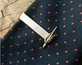Brass Cactus Tie Bar