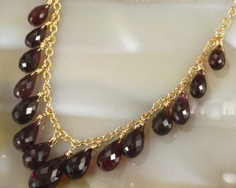 FINAL SALE - Pink Tourmaline Bib Necklace