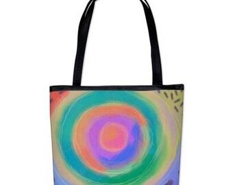 Original Abstract Art Purse Handbag Shoulder Bag My Colorful Abstract Digital Painting