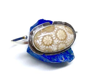 Petrified Coral Cuff Bracelet