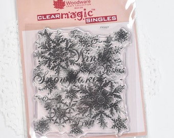 Snowflakes Clear Stamp Christmas Woodware Stamps