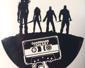Guardians of the Galaxy with cassette tape inspired vinyl sticker decal car window sticker