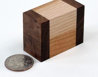 Ring Box of Walnut and Cherry