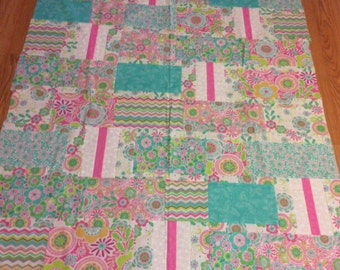 Popsicle Quilt Top Ready for Finishing
