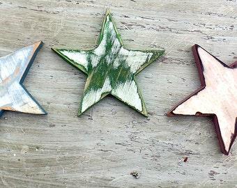Three Wood Stars,Nursery Decor, Reclaimed Wood Decor, Boho Wall Decor, Bohemian Girls Room, Wood Wall Art, Bohemian Decor, Wooden Stars