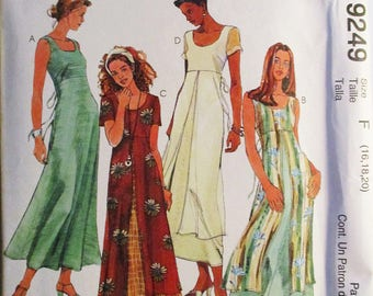 1990s Misses Sewing Pattern McCalls 9249 Misses Dress Pattern Size 16, 18, 20 Uncut