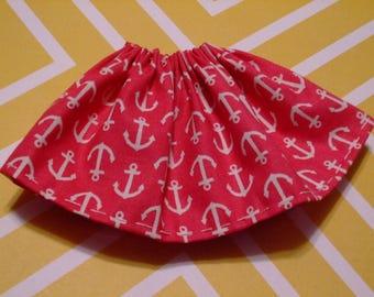 Blythe / DAL Skirt - Anchors Away On Dark Pink