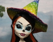 Rainbow Star Witch Hat for Slim Monster and Fashion Dolls