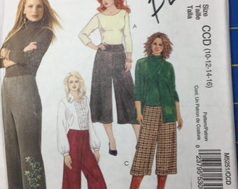 McCall's Easy M5251 Misses'and women's Gaucho pants in 2 lengths uncut size CCD