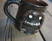 Forrest pal, Evil yet thoughtful Sasquatch stoneware mug