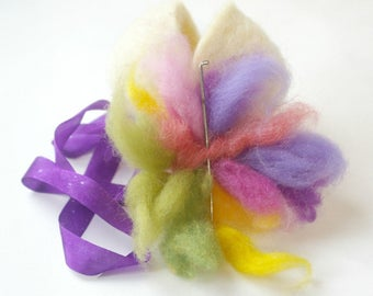 Naked Egg: Easter Craft Kit (All Natural DIY Spring Needlefelting Project with Wool, Needle and Large Egg)