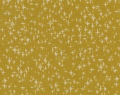 Japanese Fabric Kokka Tiny Scandinavia - stars - mustard - fat quarter