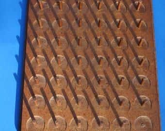 VINTAGE wooden wall mountable PEG thread spool BOARD