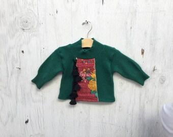 3-6 mo Boho Cashmere sweater Green