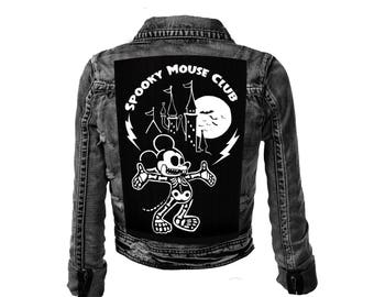 Spooky Mouse Club Large Back Patch