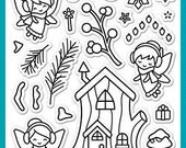 Lawn Fawn Clear Photopolymer Rubber Stamp set- Frosty Fairy Friends