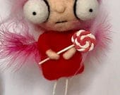 On hold for  heroes and tails Ooak   art doll