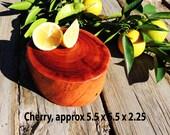 Natural Cherry Burl Wood Cutting Board or Server, live edge log slab, Free Christmas shipping!