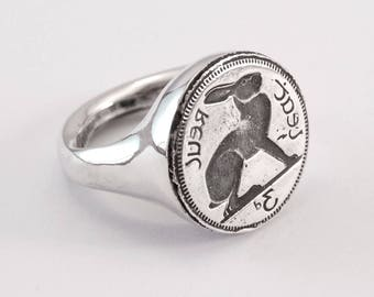 Hare Ring - silver