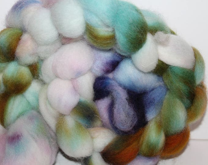 Kettle Dyed Cheviot Wool Top.  Easy to spin. 4oz  Braid. Spin. Felt. Roving. C120