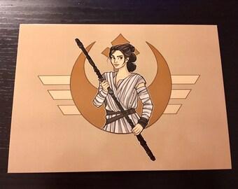 Resistance Girl Postcard- (Item 09-364)