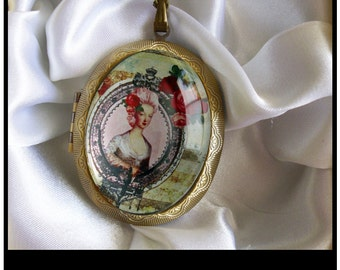 Marie Antoinette locket personalized lockets... gift box Ready To Ship & Antoinette jewelry | Etsy Aboutintivar.Com