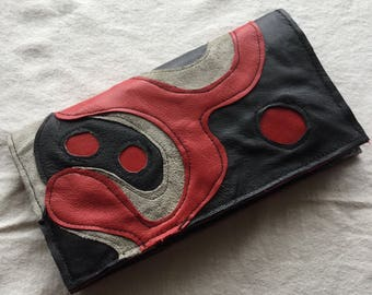 Big Snap Wallet in Recycled Leather
