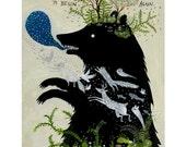 Bear Awoke - 11 x 14 inch Archival Inkjet Print (giclée).